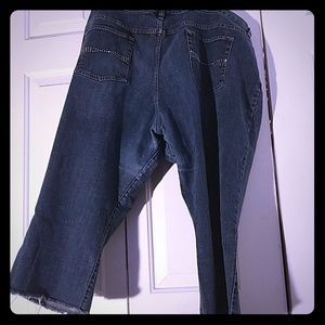 Cropped Medium Wash Jeans